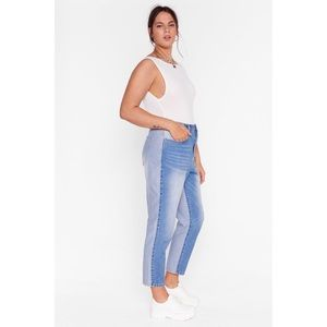 Nasty Gal Two Sides To Every Story Mom Jeans NEW